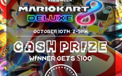 Poster from the Mario Kart 8 tournament.