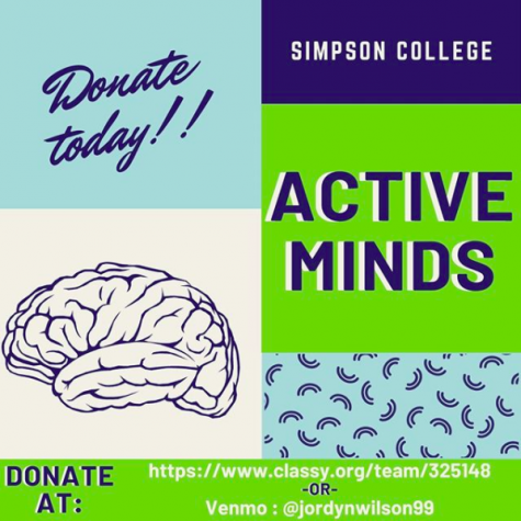 Active Minds fundraising poster.