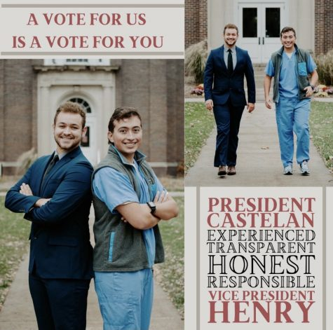 Castelan and Henry's poster for their election campaign.