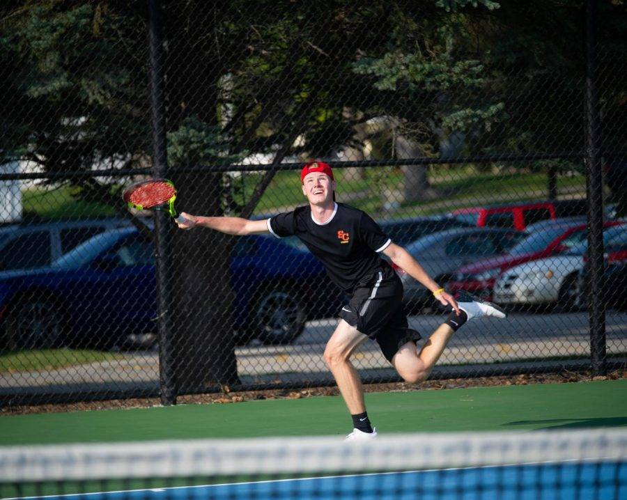 Simpson men's tennis rolls over Buena Vista