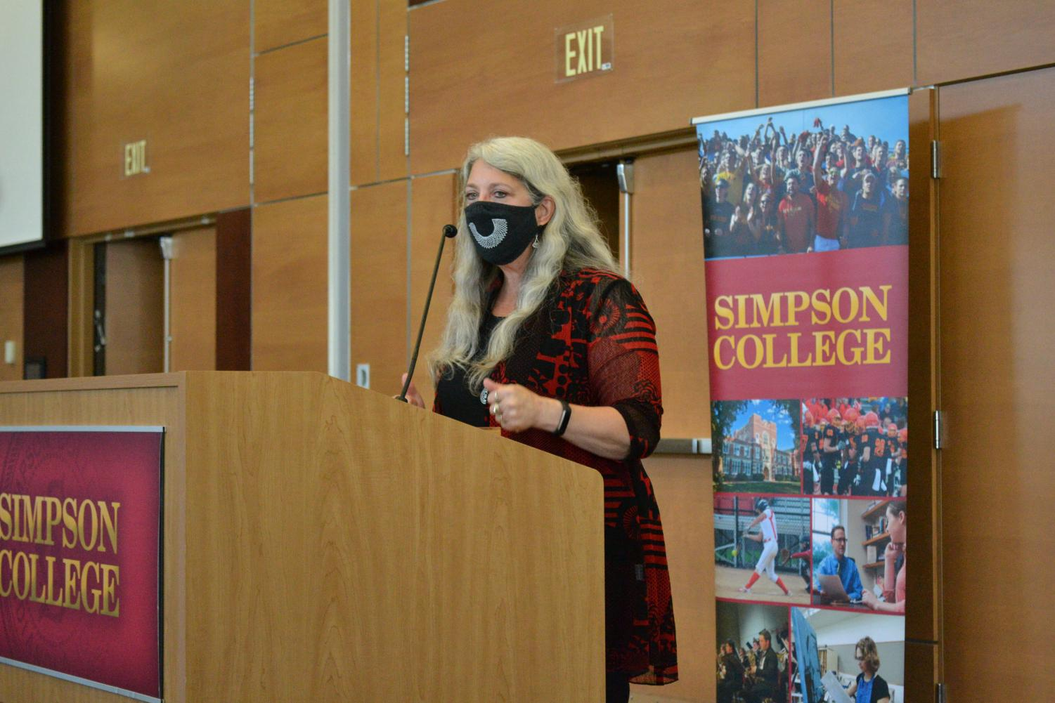 Andrea Frantz delivered the annual Constitution Day Lecture on Sept. 15.