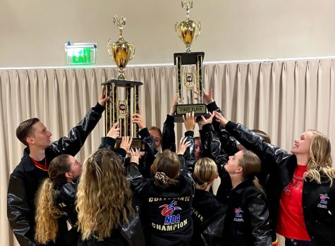 The Simpson College Dance Team received their awards after winning virtual nationals this spring.