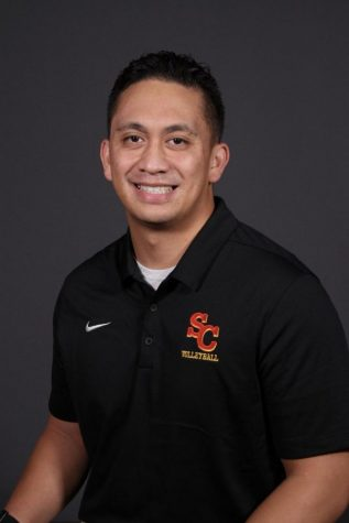 Coach Kekailoa Palea is currently at the helm of Simpson's 4 - 6 volleyball team.