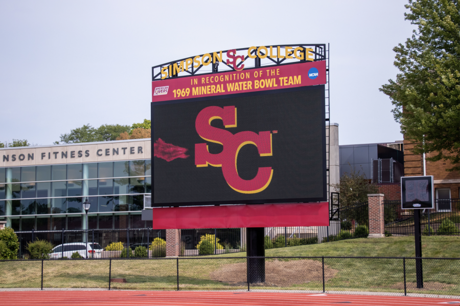 A new 15 by 28-foot video board was recently installed in Bill Buxton stadium.