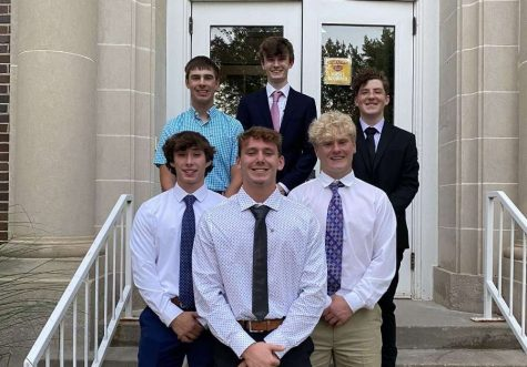 SAE gained six new members during formal recruitment this fall. Photo submitted to The Simpsonian