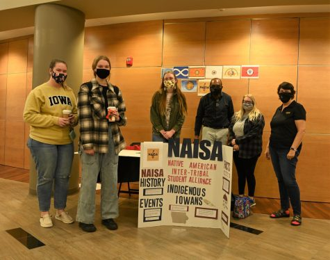 NAISA members held an information table in Kent Campus Center on Monday to bring awareness to Indigenous Peoples Day.