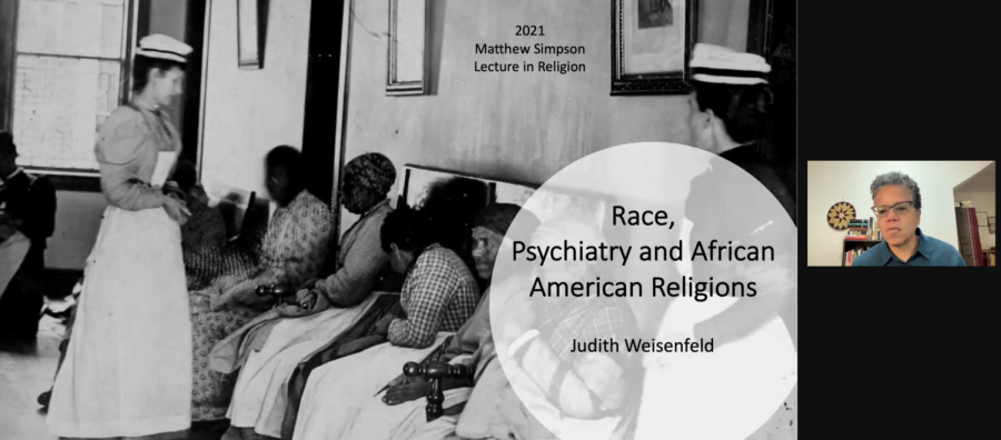 Dr.+Judith+Weisenfeld%2C+an+Agate+Brown+and+George+L.+Collord+Professor+of+Religion+at+Princeton+University%2C+spoke+over+Zoom+on+Sept.+30.+Dr.+Judith+Weisenfeld%2C+an+Agate+Brown+and+George+L.+Collord+Professor+of+Religion+at+Princeton+University%2C+spoke+over+Zoom+on+Sept.+30.+