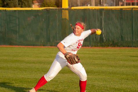 Fifth-year senior Megan Crockett is one of seven seniors leading the way on this year's softball team.